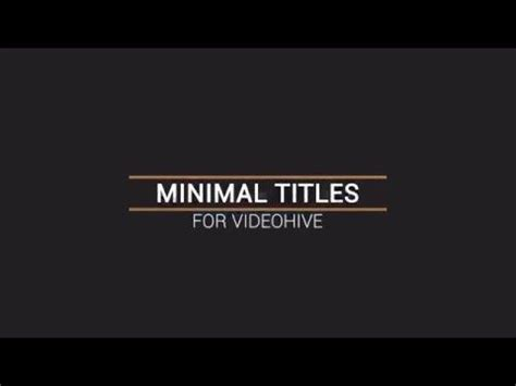 After Effects Title Templates by Adobe After Effects Title Templates Free Free Template