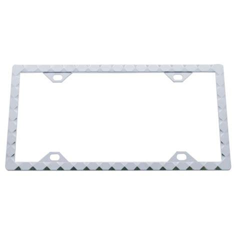 diamond pattern frame chrome license plate frame with diamond pattern 4 state