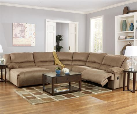 hogan sectional ashley furniture ashley signature design hogan mocha 5 piece motion