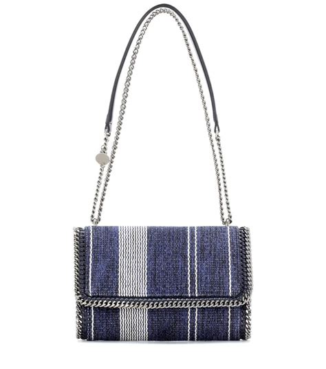 Stella Mccartney Cotton Handbag stella mccartney falabella cotton shoulder bag navy blue