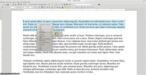 libreoffice 4 how to double space text youtube