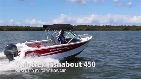 boat r brisbane quintrex fishabout 450 yamaha f60hp 4 stroke boat review