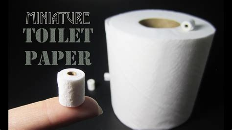 Make Toilet Paper - how to make a miniature toilet paper roll