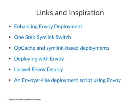 Mba Envo by Automated Deployments Using Envoy By Blackmore