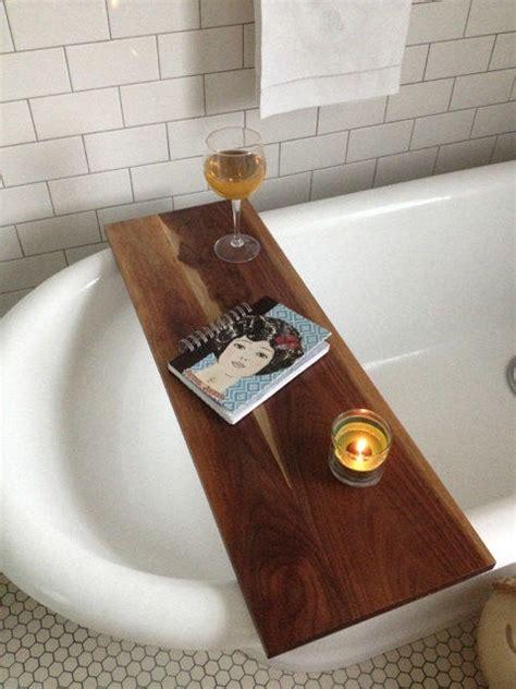 bathtub tray wood tub caddy walnut wood bathtub tray from kennedywoodworking on