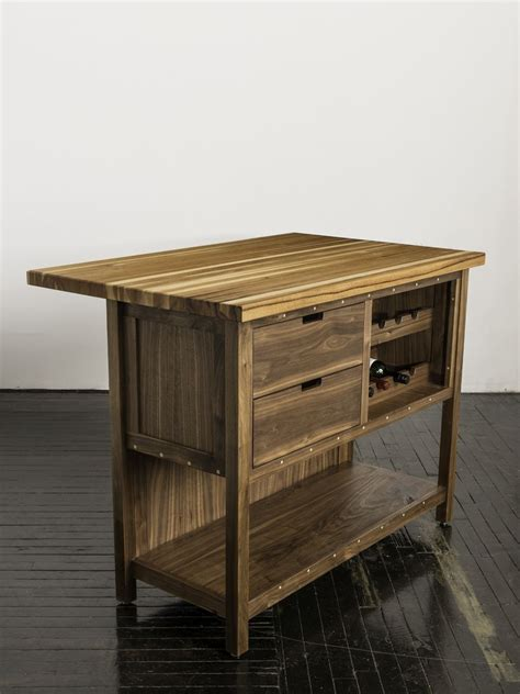 hickory kitchen island made walnut kitchen island with hickory butcher block