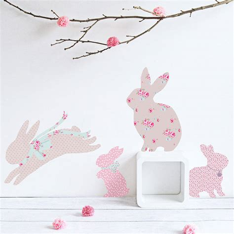 childrens wall stickers children s rabbit wall stickers by koko