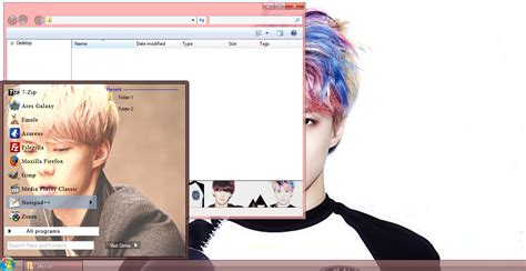 kpop theme exo my kpop fanatik sehun exo windows 7 theme