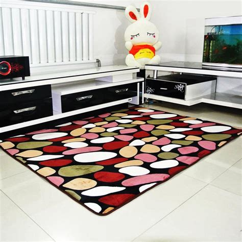 soft anti skid thickening coral fleece carpet for living