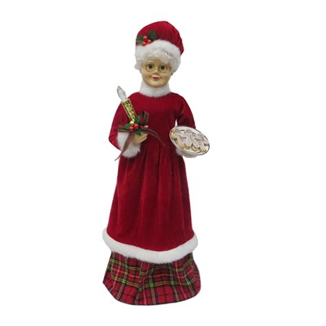shop holiday living animatronic pre lit musical mrs claus