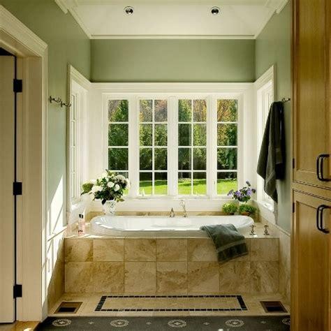 bathroom with green walls sage green walls beige tub romantic bathrooms pinterest