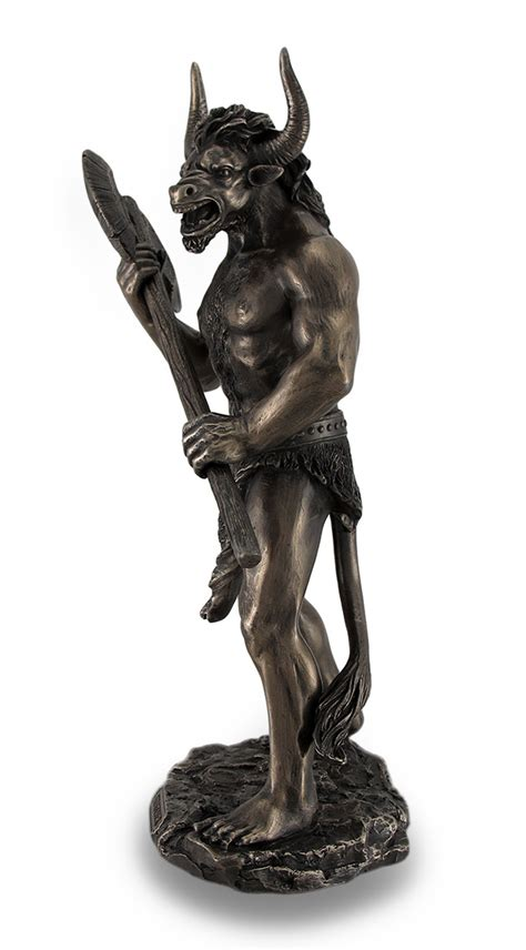 greek mythology statues bronze finished minotaur with labrys statue greek