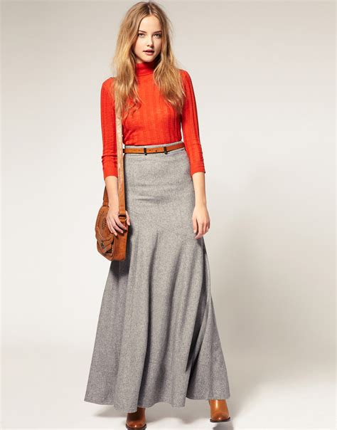 wool skirt dressed up