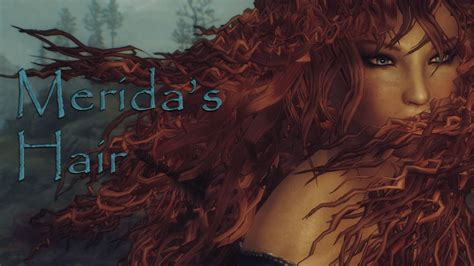 skyrim hair mods merida hair with physics at skyrim nexus mods and community