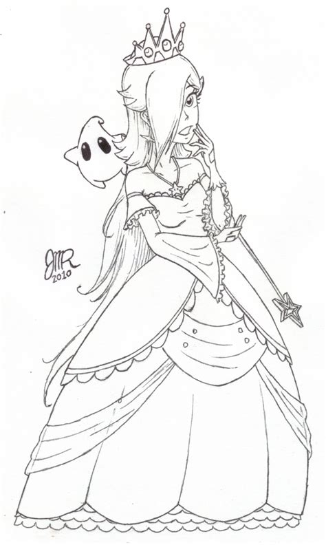 super mario coloring pages rosalina new dress for rosalina by jmr mobius 1 on deviantart
