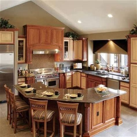 island shaped kitchen layout wraparound counter island idea ideas for the house
