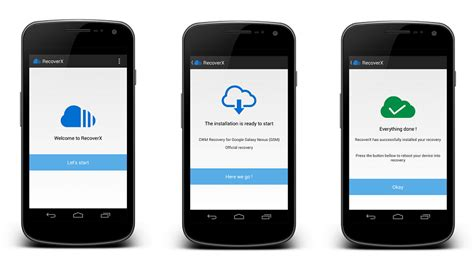 custom recovery android installer un custom recovery sans pc avec recoverx