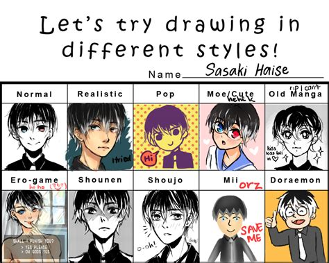 Meme Hairstyles - style meme sasaki haise by squeezzzeeeeorange on deviantart