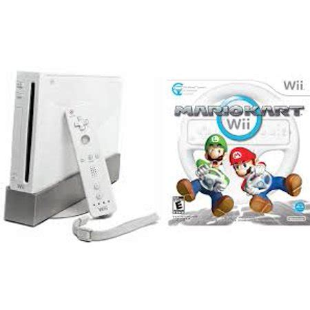 nintendo wii console used refurbished nintendo wii console white with mario kart