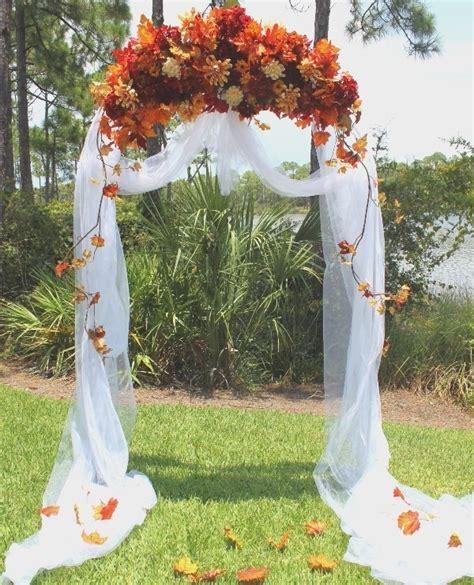 7 Ideas For A Fall Wedding by Backyard Fall Wedding Outdoor Fall Wedding Arch