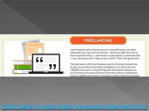 Make Money Online Guaranteed - 200 ways and websites to earn money online without investment 100