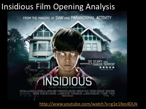 insidious movie plot analysis film opening analysis on insidious