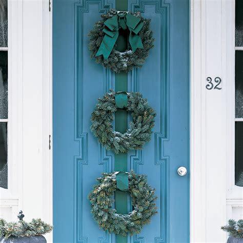 Blue spruce wreath trio martha stewart