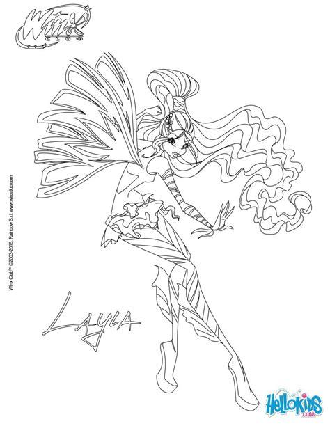 layla transformation sirenix coloring pages hellokids