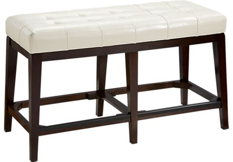 counter height benches julian place vanilla counter height bench benches dark wood