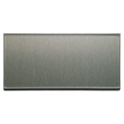 stainless steel backsplash lowes shop aspect metal 3 in x 6 in brushed stainless composite