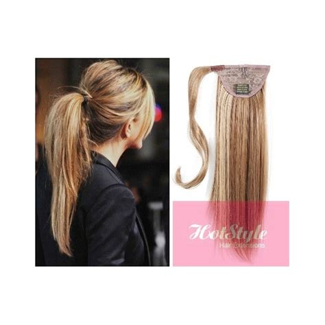 hair extension clips clip in human hair ponytail wrap hair extension 24