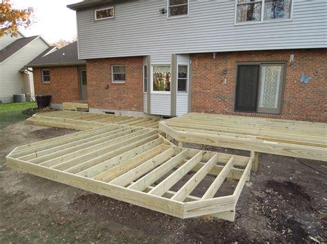 treated lumber patio deck w aluminum railing horizontal