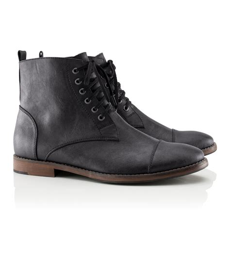 m s mens boots h m boots in black for lyst