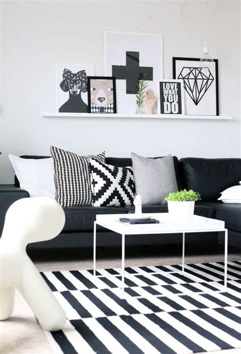 Black And White Living Room Ideas Black And White Living Room Designs