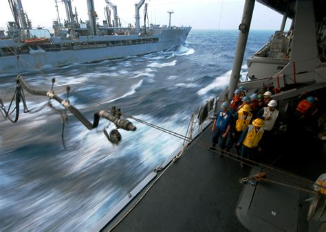don marine salvage boat equipment supplies rough seas pound the hull of msc fast combat support ship