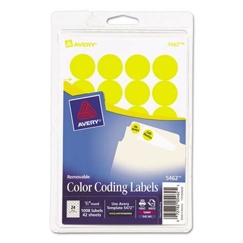 printable removable stickers ave05462 avery printable removable color coding labels zuma