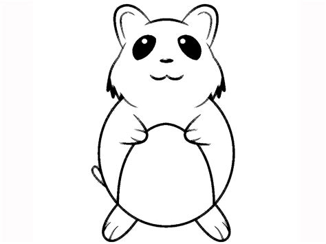 Hamster Printable Coloring Pages Hamster Coloring Pages Printable