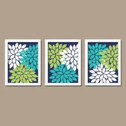 wall canvas artwork turquoise navy blue lime green