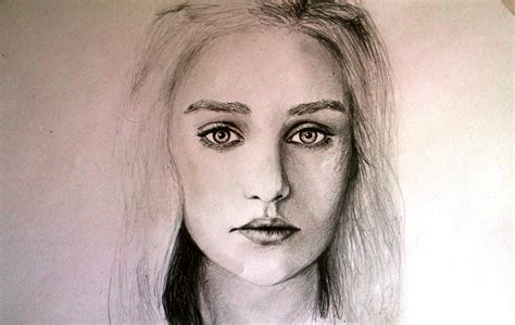 how to draw a portrait pencil portrait drawing of of thrones daenerys