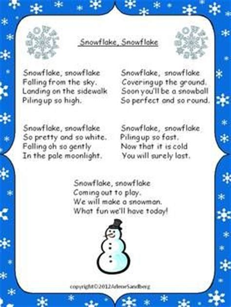 Crafting A In Essay Story Poem by Snowflakes Crafts And Plays On