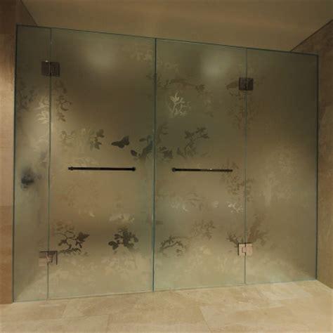 Opulent Definition 5 Acid Etched Patterns Frameless Showers Ssi