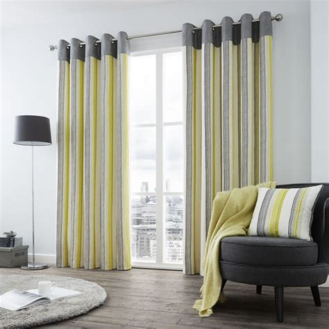 lined shower curtains uk rydell stripe fully lined eyelet curtains lime green