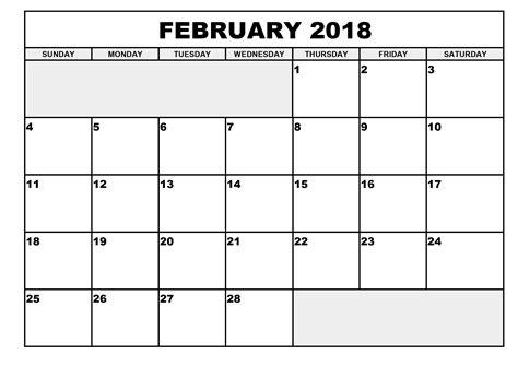Calendar 2018 February Festival 2018 Monthly Calendars 2017 Calendar Printable For Free