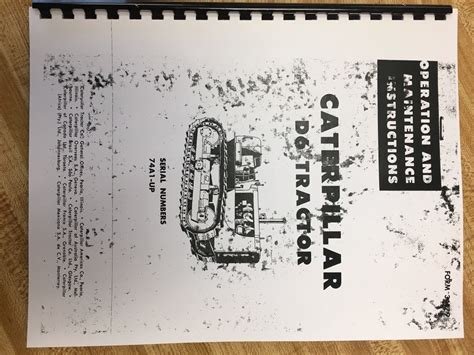 cat caterpillar  dc operator manual book dozer crawler ser num  operation maintenance
