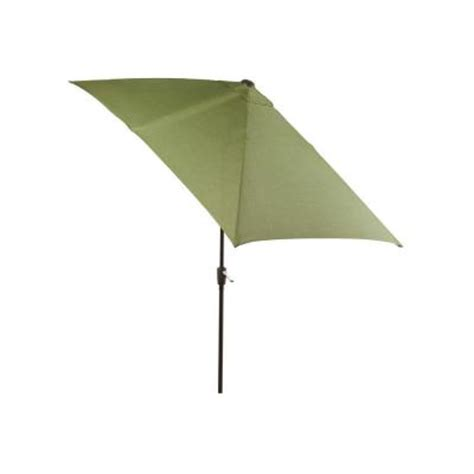 Rectangle Umbrella Patio Hton Bay Pembrey Rectangle Patio Umbrella In Moss Hd14221 The Home Depot