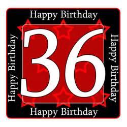 Heavy Duty Gift Wrap - 36 happy birthday party supplies 36th birthday coaster