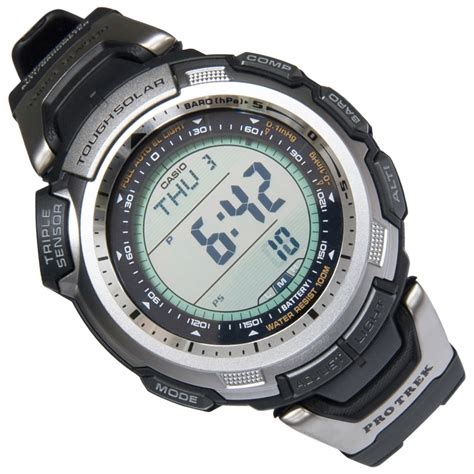 Casio Prg 110 1v Tough Solar casio pro trek tough solar sensor prg 110 1v