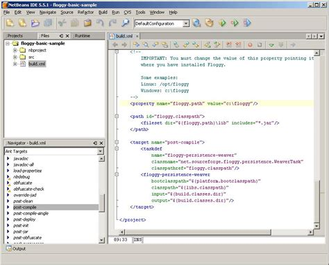 build xml floggy j2me persistence framework