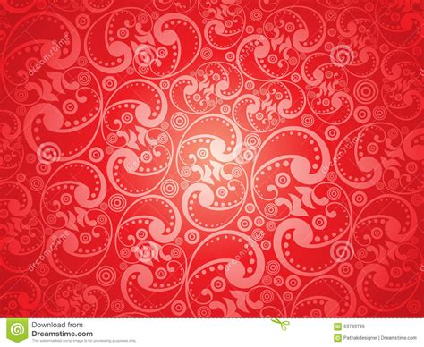 artistic pattern background abstract artistic red floral pattern background stock