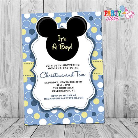Mickey Mouse For Baby Shower by Mickey Mouse Baby Shower Invitation Printable Baby Mickey